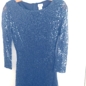 Cache Navy Sequin Dress